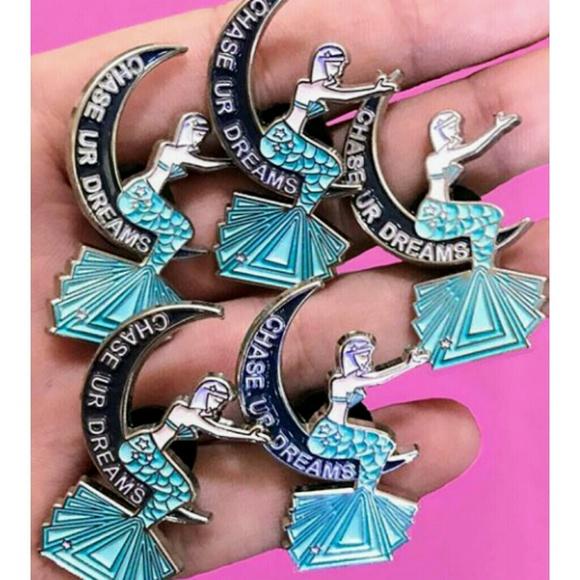 The Dreamer Mermaid Enamel Pin